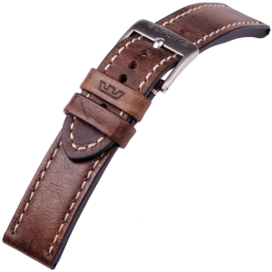 Glycine Uhrenarmband Vintage Sattelleder Braun - LB7BF