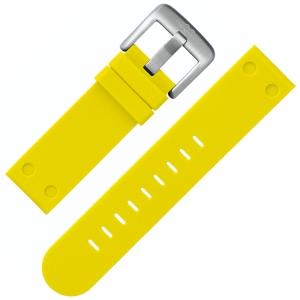 TW Steel Uhrenarmband TW520 Gummi Gelb 22mm