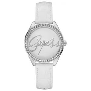 Guess Uhrenarmband W0229L1 - Weisses Leder mit Kroko-Struktur