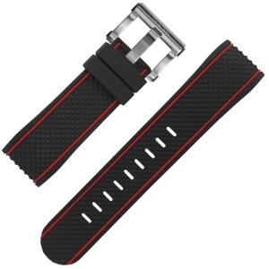 TW Steel Uhrenarmband TS1, TS2 Schwarz Gummi 24mm