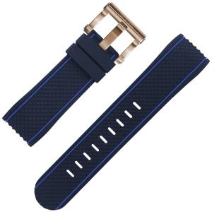 TW Steel Uhrenarmband TS3 Blau Gummi 24mm
