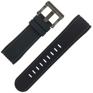 TW Steel Uhrenarmband TS4 schwarz Gummi 24mm