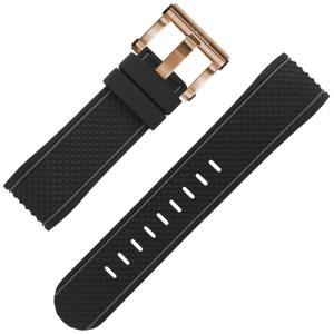 TW Steel Uhrenarmband TS5 schwarz Gummi 24mm