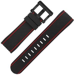 TW Steel Uhrenarmband TS6 schwarz Gummi 24mm