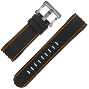 TW Steel Uhrenarmband TS8 Coronel Dakar Limited Edition Schwarz Gummi 24mm