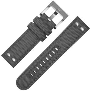 TW Steel Uhrenarmband VS12, VS14 Grau Canvas 24mm