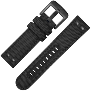 TW Steel Uhrenarmband VS42, VS44 Schwarz Canvas 24mm