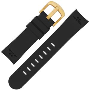 TW Steel Uhrenarmband TW28, TWA28 - Gummi Schwarz 22mm