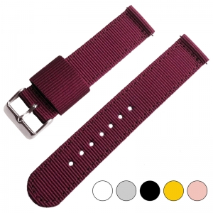 Weinrotes Two Piece RAF NATO Nylon Uhrenarmband
