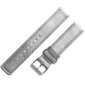 OOZOO Uhrenarmband Leder Silber