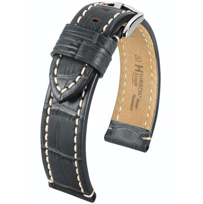 Hirsch Knight Uhrenarmband Grau