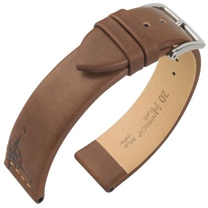 Hirsch Earth Artisan Windrose Uhrenarmband Braun
