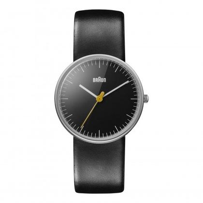 Braun Uhrenarmband für BN0021BKBKL - Leder Schwarz