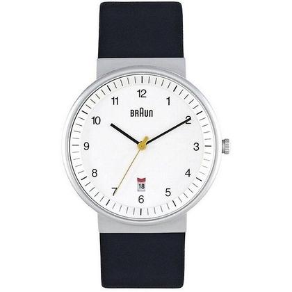 Braun Uhrenarmband für Typ BN0032WHBKG Leder Schwarz