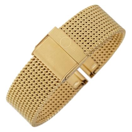bandOh Mesh Milanaise Uhrenarmband Fein Gewebter Stahl Gold
