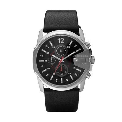 Diesel DZ4182 Uhrenarmband Leder Schwarz
