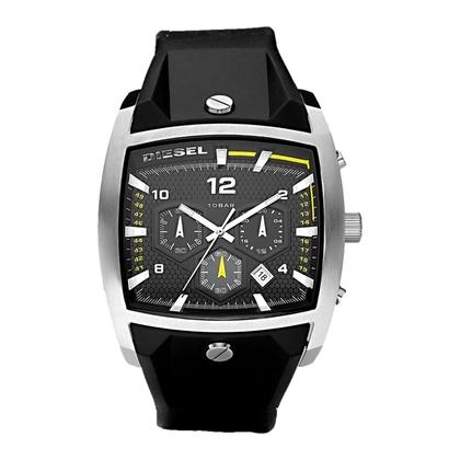 Diesel DZ4165 Uhrenarmband Gummi Schwarz