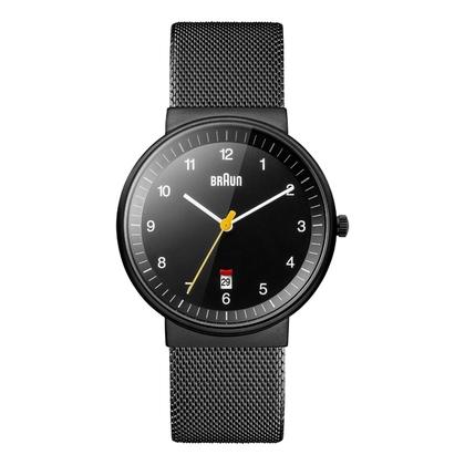 Braun Uhrenarmband für BN0032BKBKMHG - Mesh Milanaise Schwarz