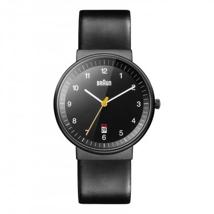 Braun Uhrenarmband für BN0032BKBKG - Leder Schwarz