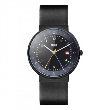 Braun Uhrenarmband für BN0142BKBKG - Leder Schwarz