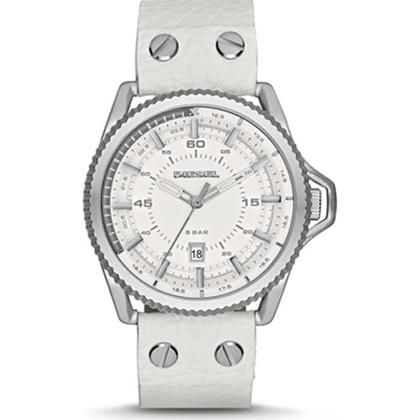 Diesel DZ1755 Uhrenarmband Leder Weiss