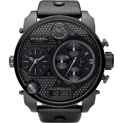 Diesel DZ7193 Uhrenarmband Leder Schwarz