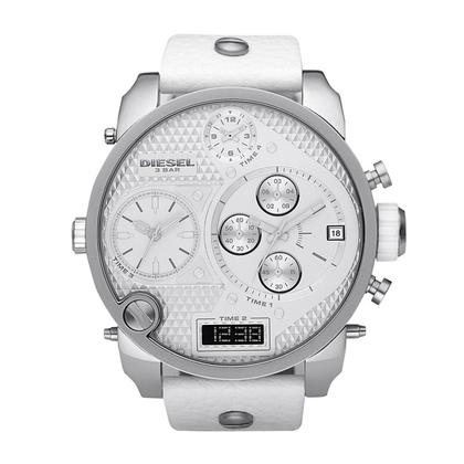 Diesel DZ7194 Uhrenarmband Leder Weiss