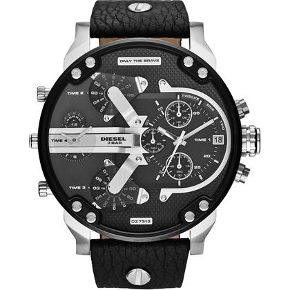 Diesel DZ7313 Uhrenarmband Leder Schwarz