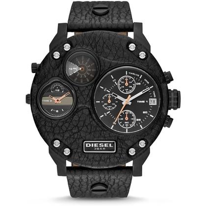 Diesel DZ7354 Uhrenarmband Leder Schwarz