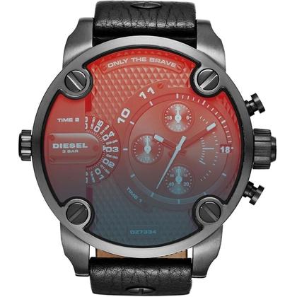 Diesel DZ7334 Uhrenarmband Leder Schwarz