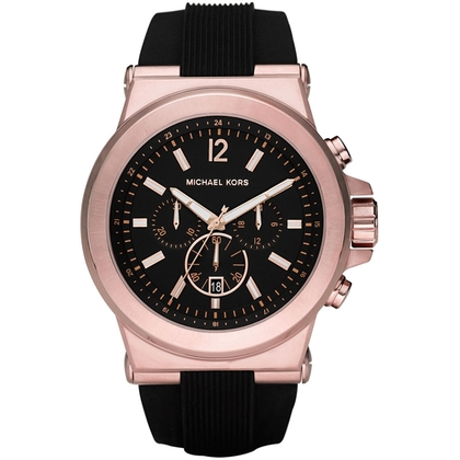Michael Kors MK8184 Uhrenarmband Gummi Schwarz