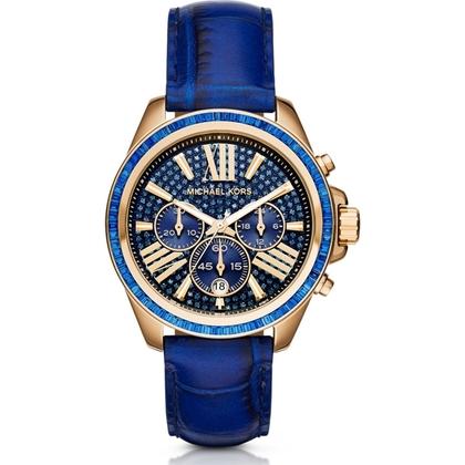 Michael Kors MK2450 Uhrenarmband Leder Blau