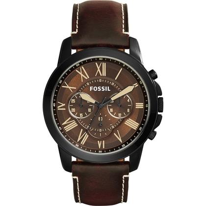 Fossil FS5088 Uhrenarmband Leder Braun