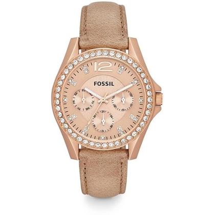 Fossil ES3363 Uhrenarmband Leder Beige