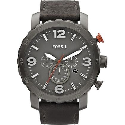 Fossil JR1419 Uhrenarmband Leder Grau