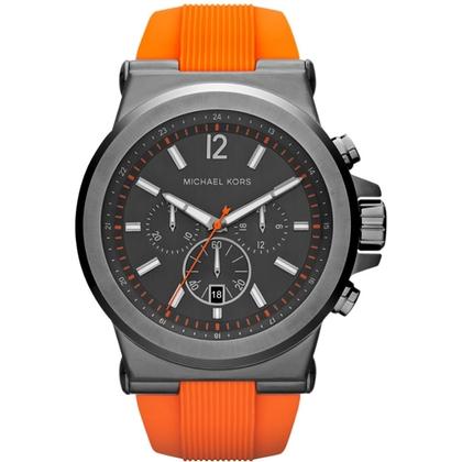 Michael Kors MK8296 Uhrenarmband Gummi Orange