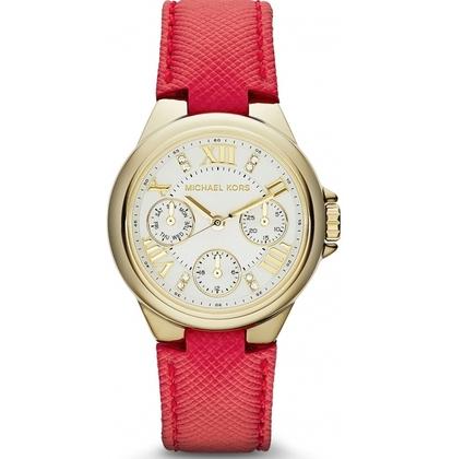 Michael Kors MK2321 Uhrenarmband Leder Rot