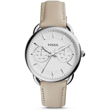 Fossil ES3806 Uhrenarmband Leder Beige
