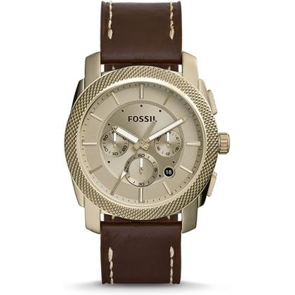 Fossil FS5075 Uhrenarmband Leder Braun