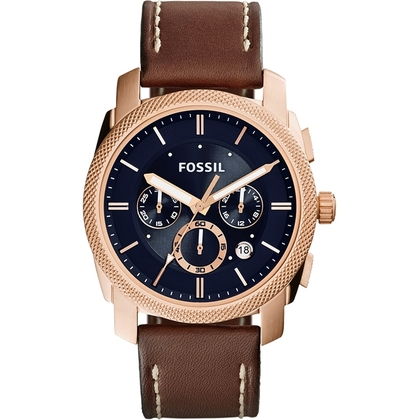 Fossil FS5073 Uhrenarmband Leder Braun