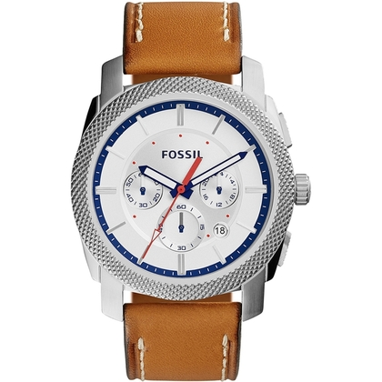 Fossil FS5063 Uhrenarmband Leder Braun