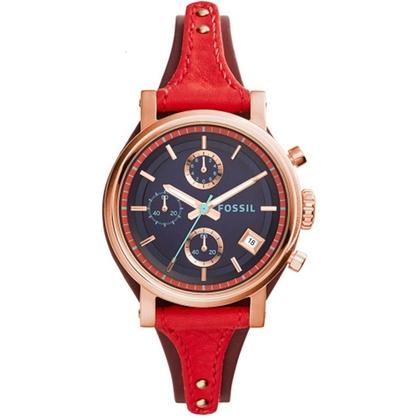 Fossil ES3906 Uhrenarmband Leder Rot