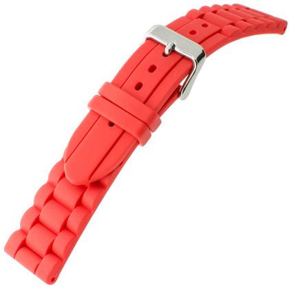 Hirsch Jelly Gummi Glieder-Uhrenarmband Rot