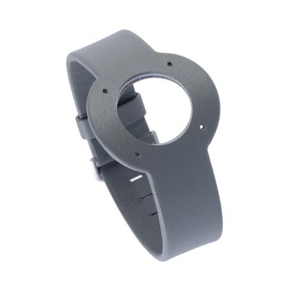 Jacob Jensen Uhrenarmband Strata Graues Leder 16mm