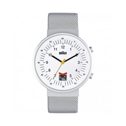 Braun BN0087WHSLMHG Uhrenarmband Mesh (Milainese) Silber