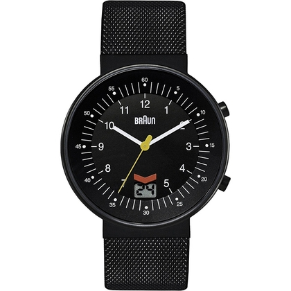Braun BN0087BKBKMHG Uhrenarmband Mesh (Milainese) Schwarz