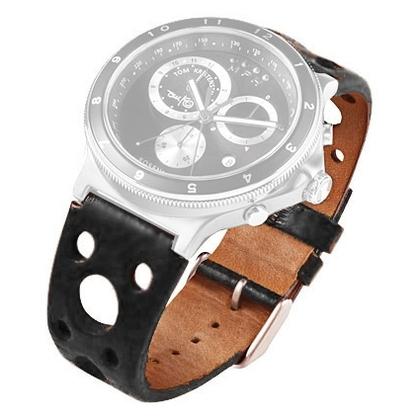 Rosendahl Tom Kristensen MPH Watch Uhrenarmband Leder Schwarz