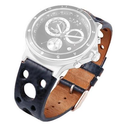 Rosendahl Tom Kristensen MPH Watch Uhrenarmband Leder Blau