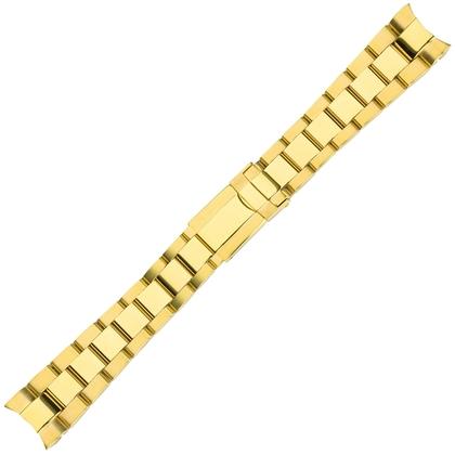 Oyster Uhrenarmband 'Typ Rolex' Rostfreier Stahl Gold 20mm