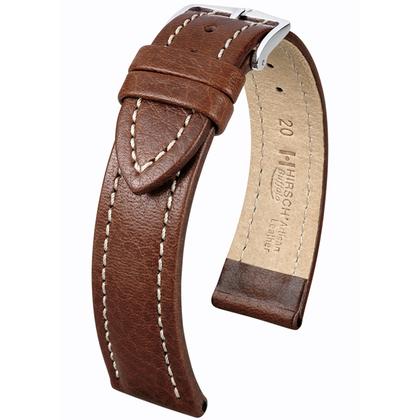 Hirsch Buffalo Uhrenarmband Braun